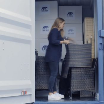 Girl Storing with Blue Bear Self Storage